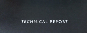 Cover of a technical report