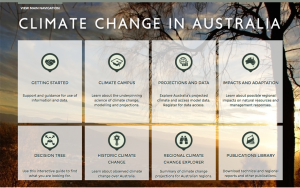 Screenshot of the Climate Change in Australia website home page