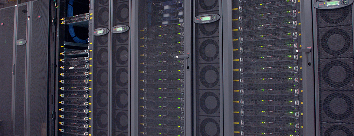 A large computer server