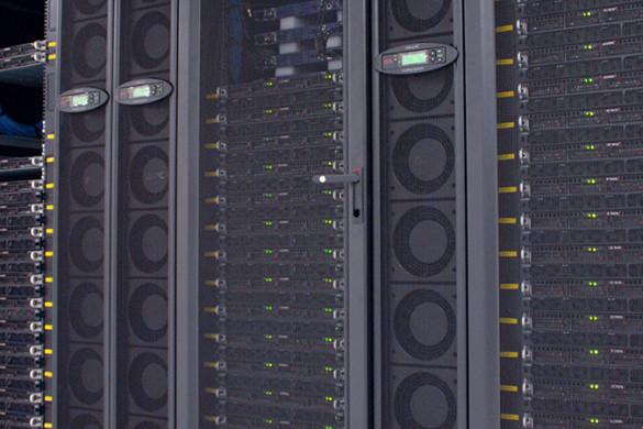 A large computer server