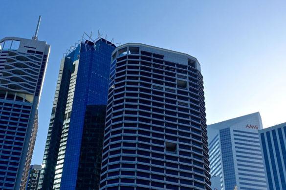 Buildings in a city skyline