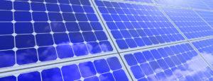 Close up of solar panels