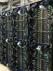 Close up of part of the Raijin supercomputer
