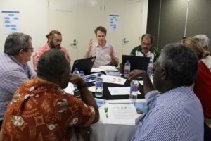 Group discussions at a recent workshop in Honiara