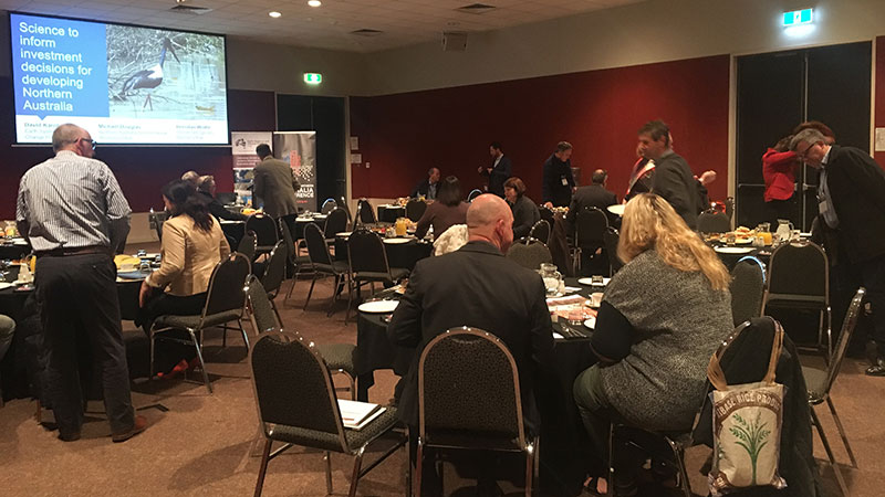 Delegates arriving at the Hub's business leaders breakfast at the Developing Northern Australia 2018 conference