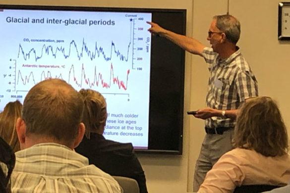Hub leader David Karoly at a workshop