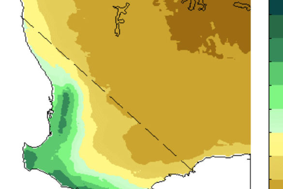 Screenshot of animation of rainfall projections for south-west Western Australia